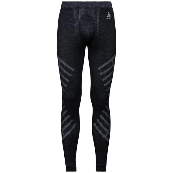 Sous-vêtement technique Collant long NATURAL + KINSHIP WARM pour homme, black melange, large