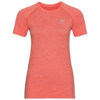 T-shirt SEAMLESS ELEMENT pour femme, hot coral melange, large
