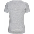 Women's CONCORD T-Shirt, stone grey melange - mountain graphic SS21, large