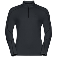 Midlayer 1/2 zip LA MOLINA, black, large