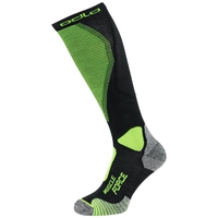 MUSCLE FORCE CERAMIWARM LIGHT Over-the-Calf Socks, black - safety yellow, large