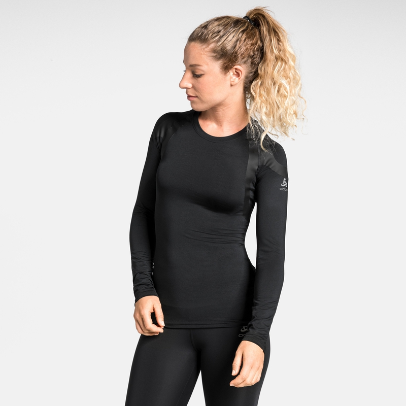 Damen ACTIVE SPINE LIGHT Base Layer Langarm-Shirt, black, large