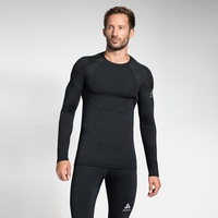 Men's ACTIVE SPINE LIGHT Long Sleeve Baselayer Top, black, large