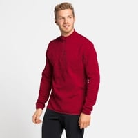 Top midlayer con mezza zip CORVIGLIA KINSHIP da uomo, rio red, large