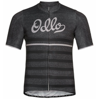 Men's ELEMENT PRINT Short-Sleeve Cycling Jersey, odlo graphite grey melange - retro, large