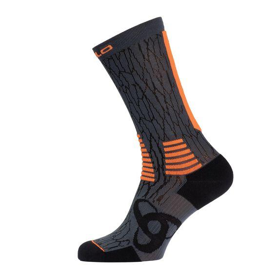 Socks long CERAMICOOL Light, black - orange clown fish, large