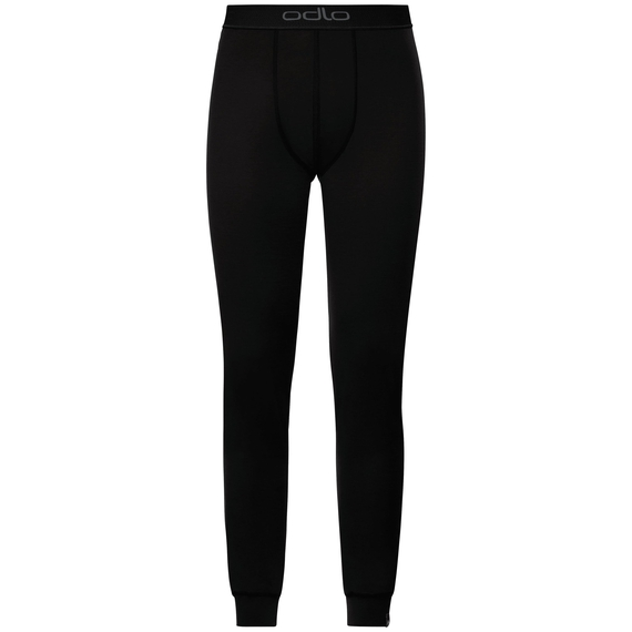 Natural 100 Merino Warm baselayer pants men, black - black, large