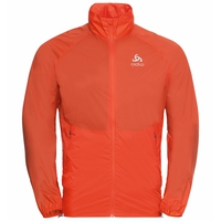 Men's ZEROWEIGHT DUAL DRY WATER-RESISTANT Jacket, mandarin red, large