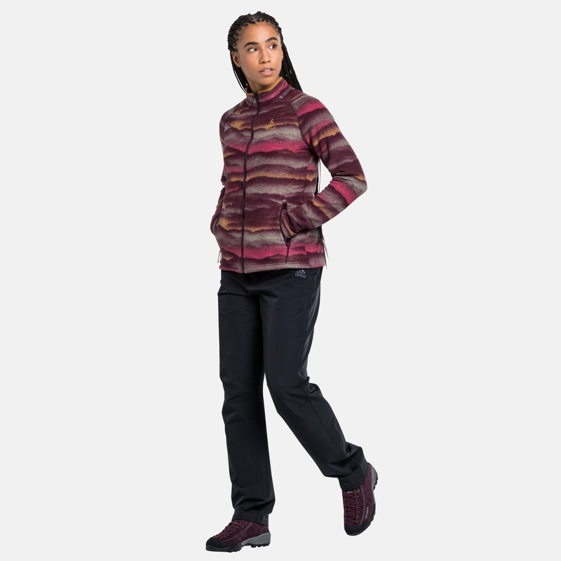The Roy Graphic mid layer zip, winetasting, large