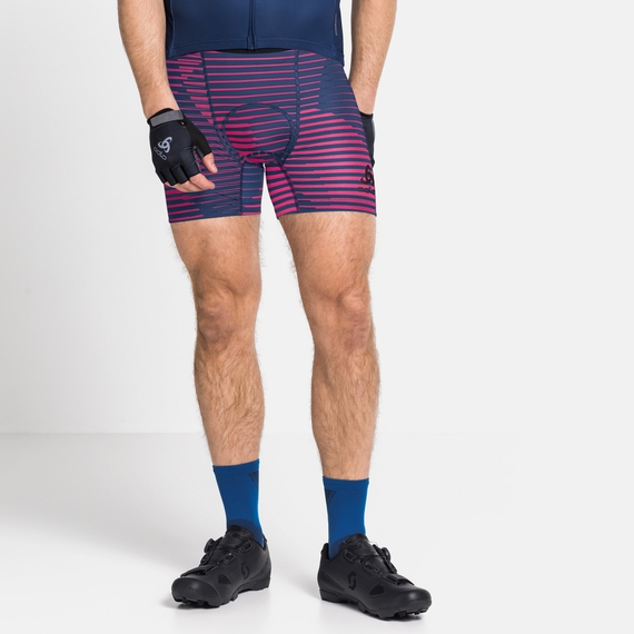 Herren Radsport SUMMER SPLASH Baselayer Boxershorts, beetroot purple - estate blue, large