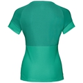 Women's KUMANO ACTIVE Base Layer T-Shirt, pool green - crystal teal - stripes, large