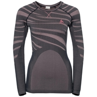 SVS top col ras du cou manches longues Performance Blackcomb, odyssey gray - mesa rose, large