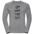 Men's ALLIANCE Long-Sleeve Top, grey melange - aim print FW19, large