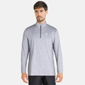 Men's ALAGNA 1/2 Zip Midlayer, grey melange, large