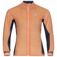 Women's DUAL DRY WATER RESISTANT Cycling Jacket, papaya - diving navy, large
