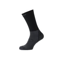 Socks long CERAMIWARM, black - odlo graphite grey, large