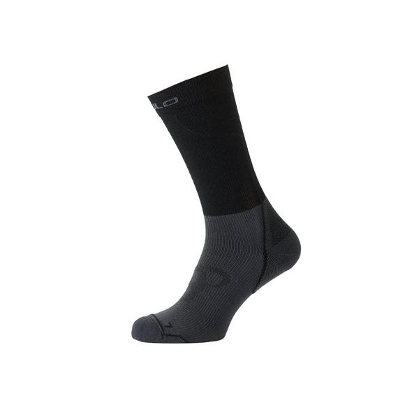 Socks long CERAMIWARM, black - odlo graphite grey, large