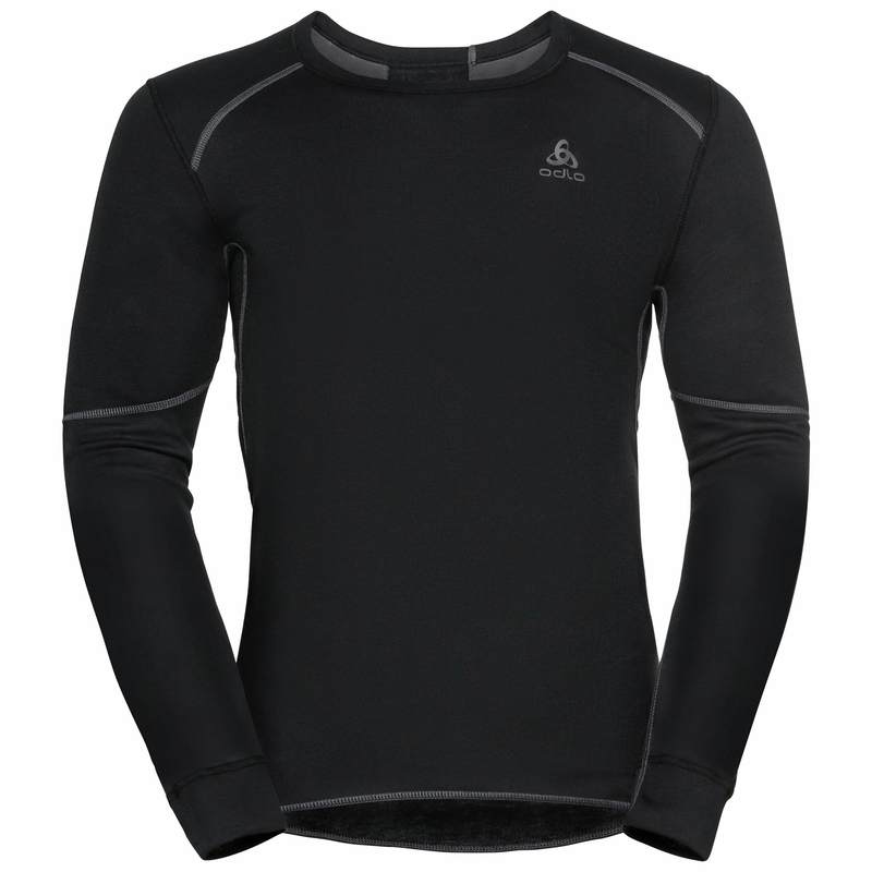 Men's ACTIVE X-WARM ECO long-sleeve Base Layer Top, black, large