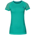 BL Top Crew neck s/s CERAMICOOL MOTION, pool green, large