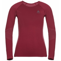 BL TOP Crew neck l/s PERFORMANCE Essentials WARM, rumba red - mesa rose, large