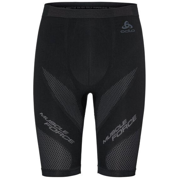 SUW Bottom MUSCLE FORCE Shorts, black - platinum grey, large