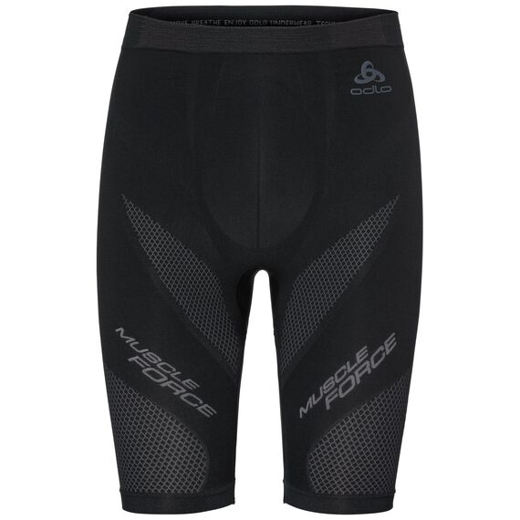SUW Bottom MUSCLE FORCE Shorts, black - platinum grey, large