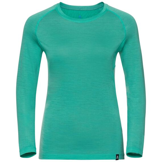 BL TOP Crew neck l/s KOYA CERAMIWOOL, pool green, large