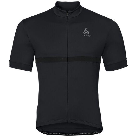 FUJIN cycling jersey men, black, large