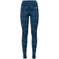 Damen NATURAL + KINSHIP WARM Funktionsunterwäsche Hose, blue wing teal melange, large