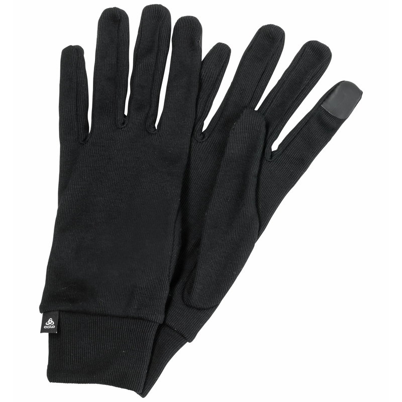The Active Warm ECO E-Tip gloves, black, large