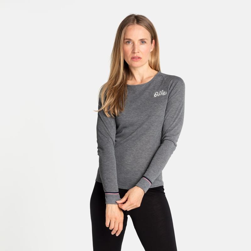 The Active Warm Originals ECO long sleeve, odlo steel grey melange, large
