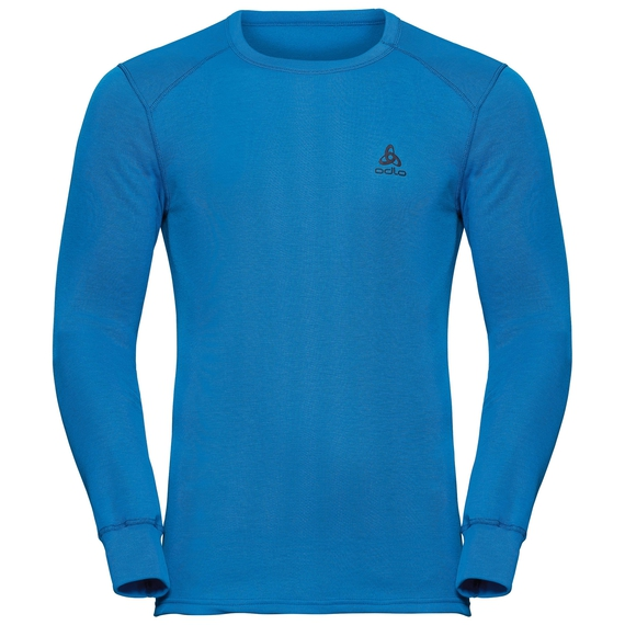 Men's ACTIVE WARM Long-Sleeve Base Layer Top, directoire blue, large