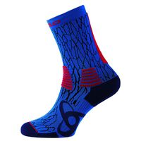 Socks long TRAINING CERAMICOOL, diving navy - fiery red, large