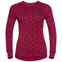 Sous-vêtement technique T-shirt manches longues X-MAS ACTIVE WARM pour femme, cerise - AOP FW19, large