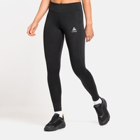 Women's ESSENTIALS SOFT Running Tights, black, large