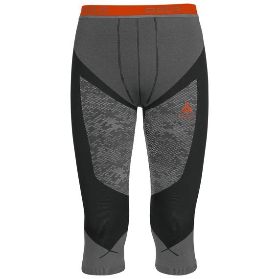 Pants 3/4 Blackcomb EVOLUTION WARM, black - odlo concrete grey - orangeade, large