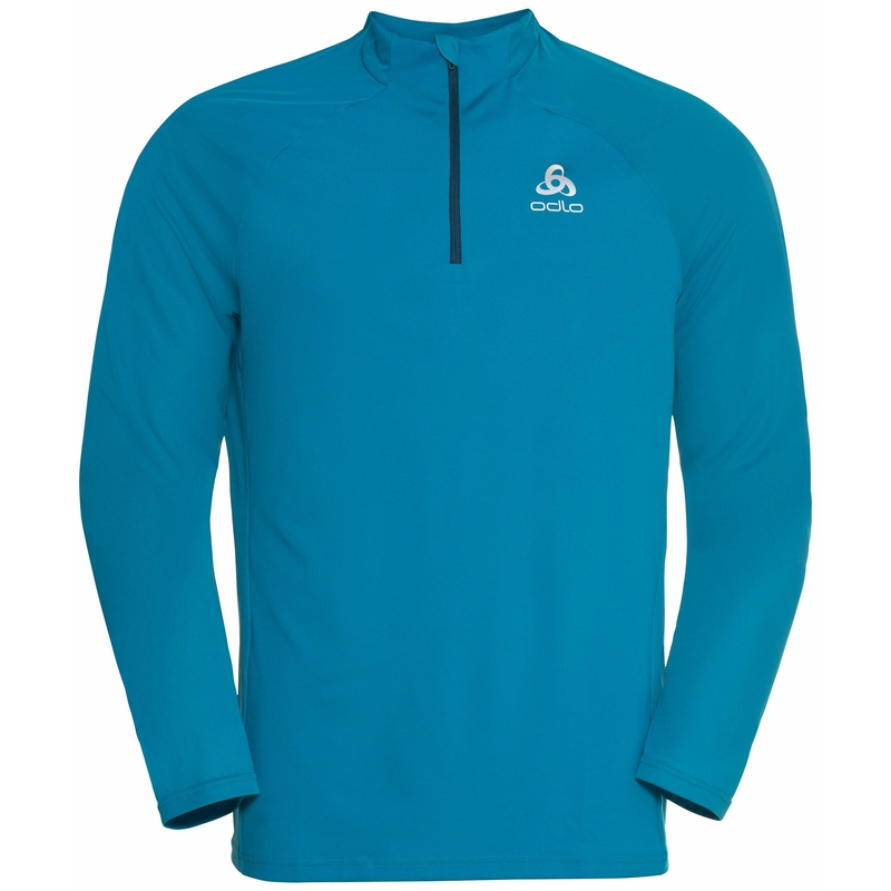 Essential Ceramiwarm 1/2 Zip Mid Layer, stunning blue, large