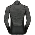 Men's BLACKCOMB Long-Sleeve Base Layer Top with Face Mask, black - odlo concrete grey - silver, large