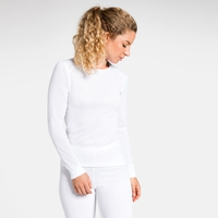 Women's ACTIVE WARM Long-Sleeve Baselayer Top, white, large