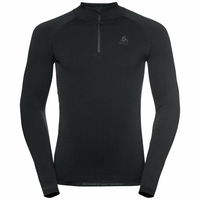 Men's PERFORMANCE WARM ECO ½ Zip Turtleneck Baselayer Top, black - odlo graphite grey, large