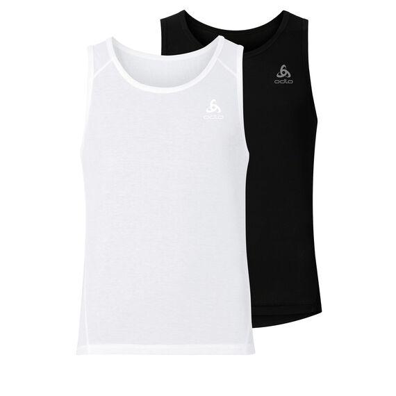 SUW TOP ACTIVE Originals LIGHT Unterhemd mit Rundhalsausschnitt im 2er-Pack, black - white, large
