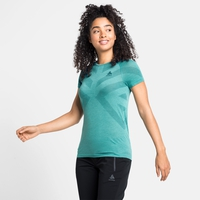 Damen KINSHIP LIGHT Baselayer T-Shirt, jaded melange, large