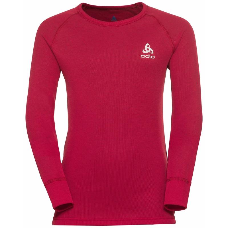 Tee-shirt technique à manches longues ACTIVE WARM ECO KIDS pour enfant, deep claret, large