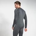 PERFORMANCE WARM-basislaagtop met lange mouwen voor heren, grey melange - black, large