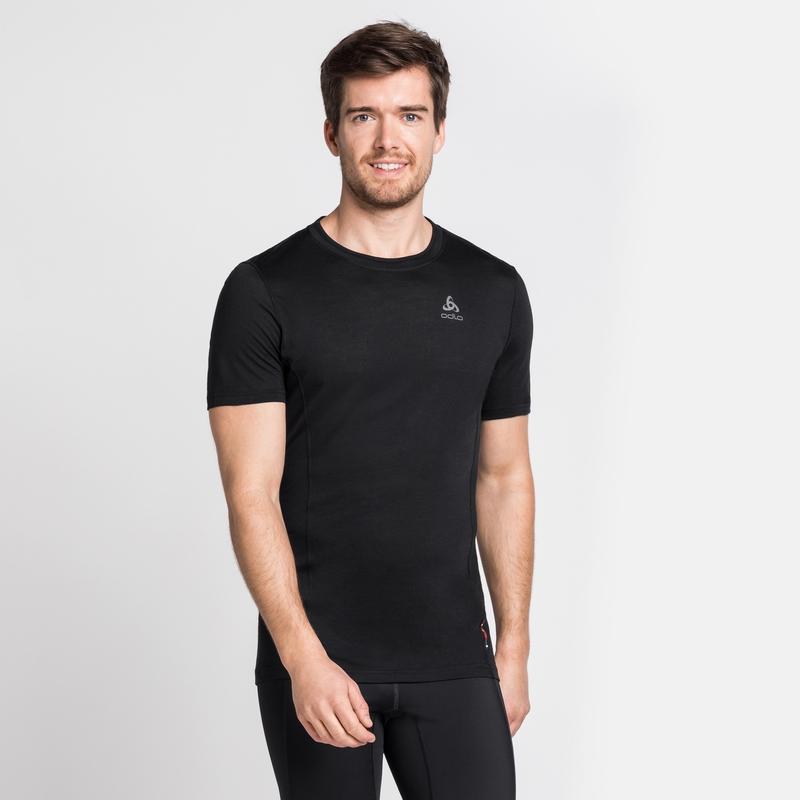 Men's NATURAL + LIGHT Short-Sleeve Base Layer Top, black, large
