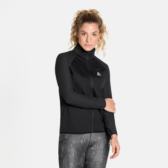 Veste de running ZEROWEIGHT WARM HYBRID pour femme, black, large