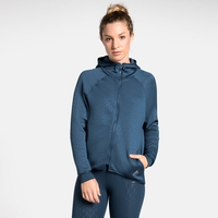 Women's LOU Midlayer Hoody, blue wing teal - AOP FW19, large