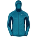 Men's BLAZE CERAMIWARM Midlayer Hoody, poseidon - blue jewel - stripes, large