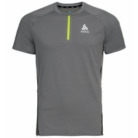 Men's AXALP TRAIL Running Half-Zip T-Shirt, odlo steel grey, large