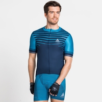 Men's ZEROWEIGHT CERAMICOOL PRO Full-Zip Short-Sleeve Cycling Jersey, blue aster - estate blue, large